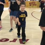 Kids Starting Lineup at Game 2 of the 2018 NBA Finals